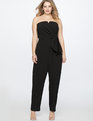 Sweetheart Neckline Wrap Jumpsuit Black