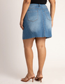 Denim Mini Skirt Light Wash