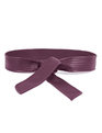 Quilted Faux Leather Obi Belt Wine