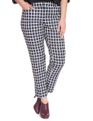 Kady Fit Printed Neoprene Pant Window Pane Plaid
