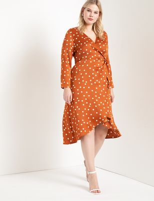 Tulip Hem Wrap Dress