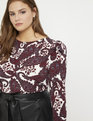 Puff Sleeve top with Waist Shirring Be Rad Paisley