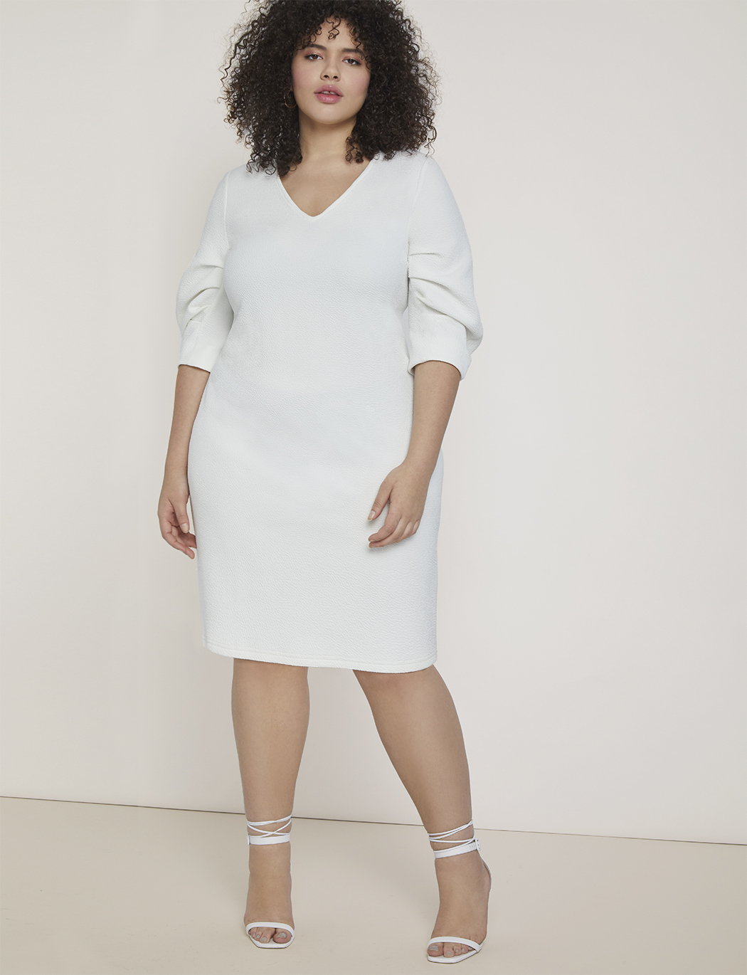 Pleated Sleeve Easy Dress