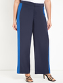 Flare Leg Trouser with Contrast Trim Lazuli/Alaskan Blue