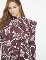 Mock Neck Dress with Sleeve Detail Be Rad Paisley
