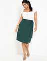 Wrap Midi Skirt Bistro Green
