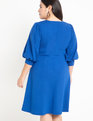 Full Sleeve A-Line Dress Mazarine Blue