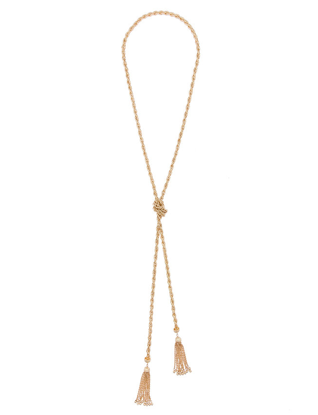 Long Knotted Chain Necklace