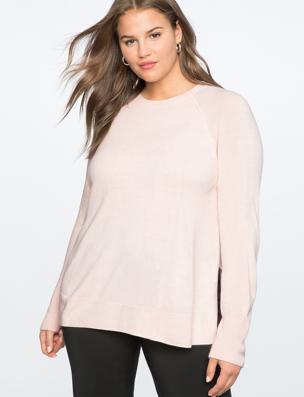 Premier Cashmere Pullover Sweater Womens Plus Size Tops Eloquii