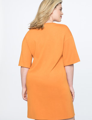 Snap Sleeve Easy Tee Dress