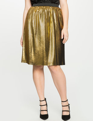 Pleated Foil Skirt