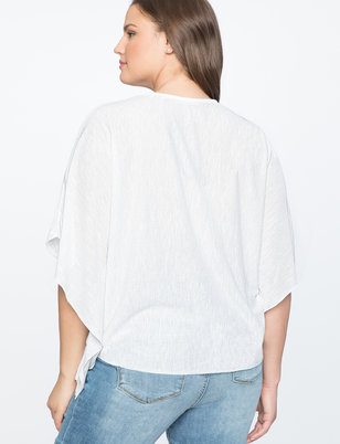 Textured Dolman Sleeve Top