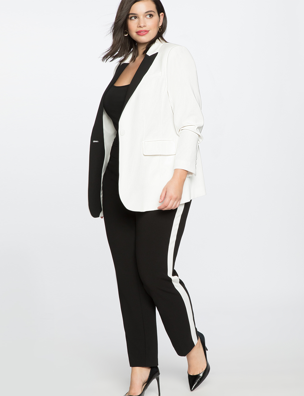 Slim Trouser With Side Stripe | Women\'s Plus Size Pants | ELOQUII