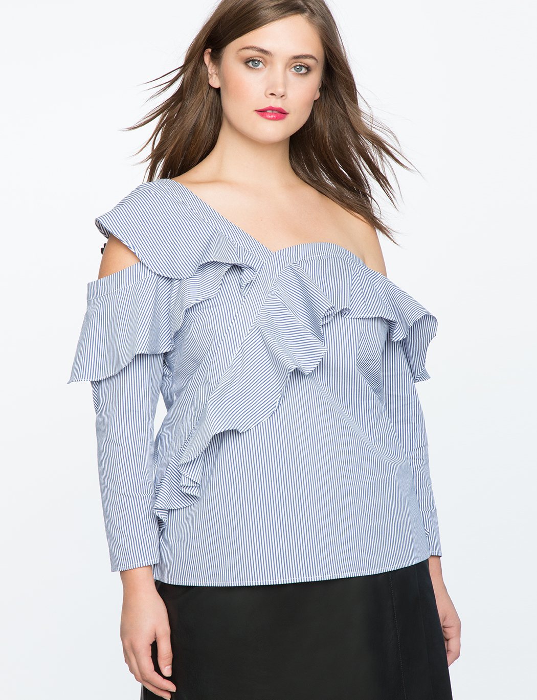 Ruffle Asymmetic One Shoulder Top