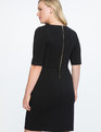 9-to-5 Stretch Work Dress Totally Black