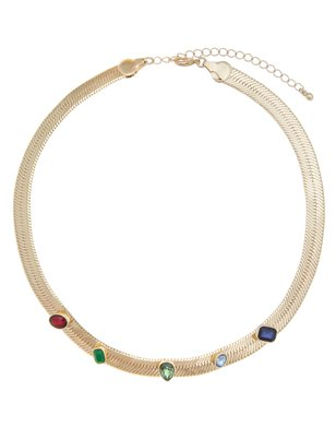 Multicolor Jewel Collar Necklace