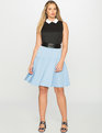 Preppy Fit and Flare Dress Black / Blue Fox