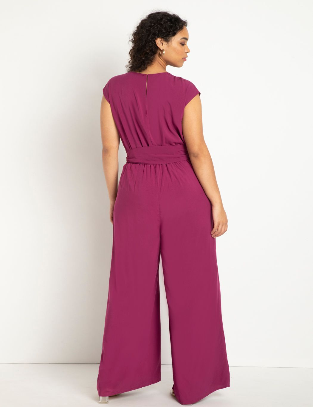 Flowy Wide Leg Jumpsuit With Belt
