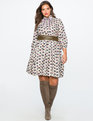 Long Sleeve Printed Fit and Flare Dress OWLBERT EINSTEIN