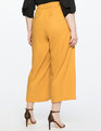 Pleated Crop Pant Macaw Yellow