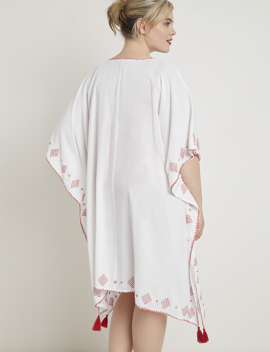 Embroidered Kaftan Coverup