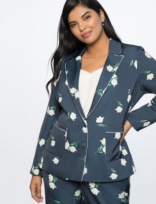 Two Button Printed Jacket