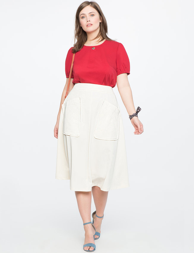 Tea Length a Line Skirt