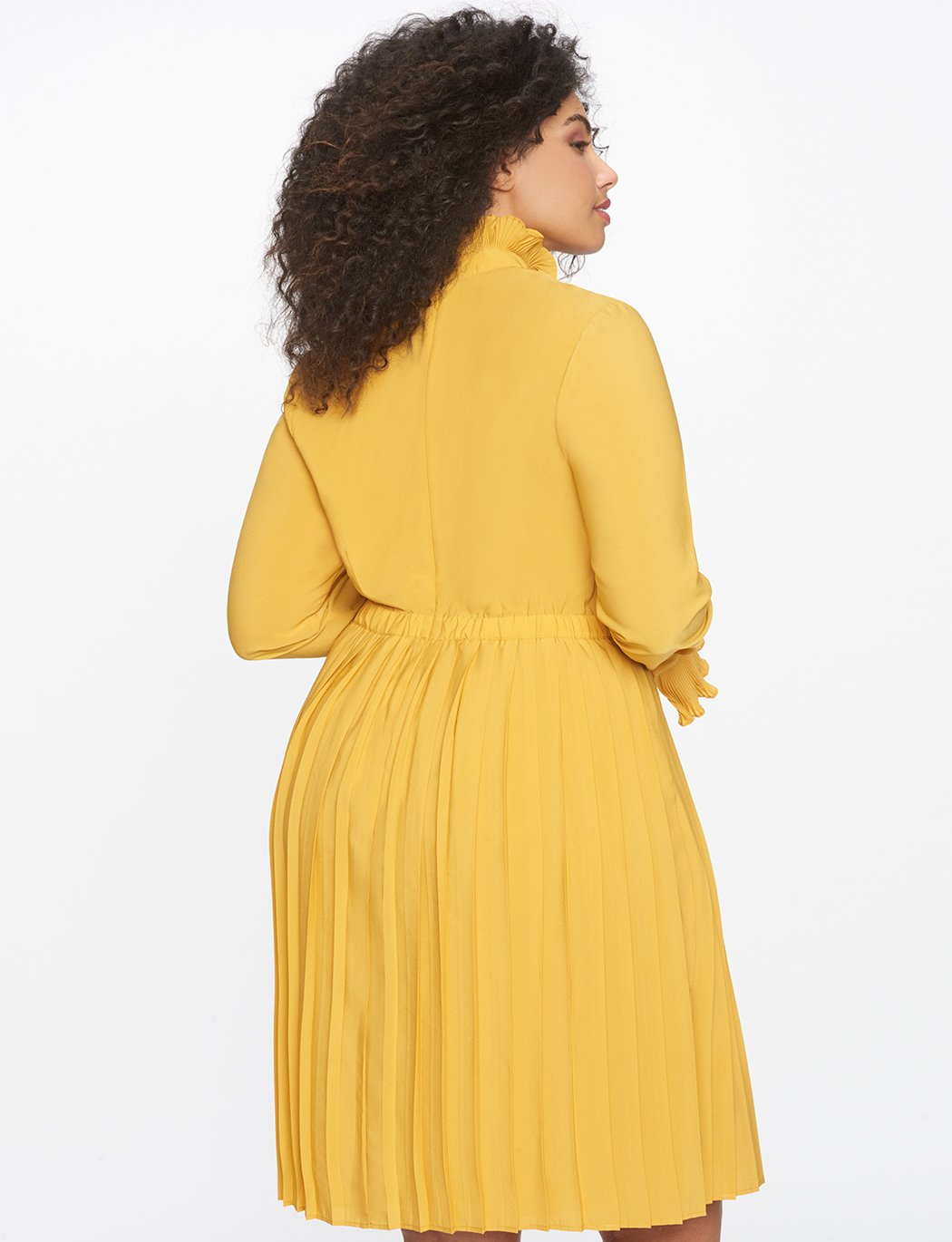 752c145ea0 Pleated Dress with Ruffle Detail