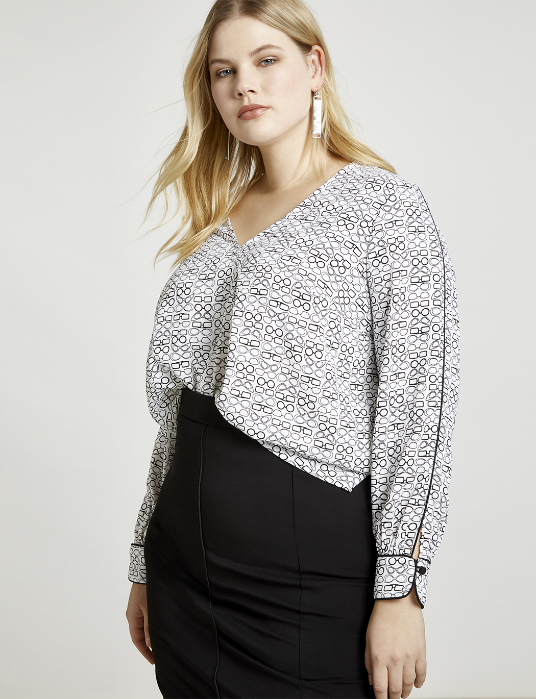 9-to-5 Pleat Front Top