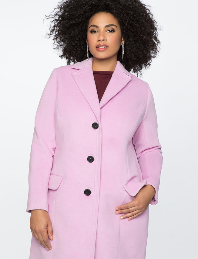Long Coat With Collar Detail