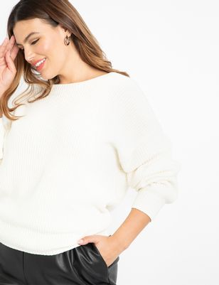 ELOQUII Elements Twist Back Sweater