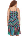 Studio Striped Ruffle Dress  Variagated Stripe