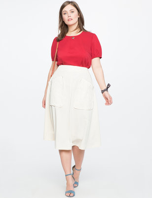 Tea Length Skirt with Pockets