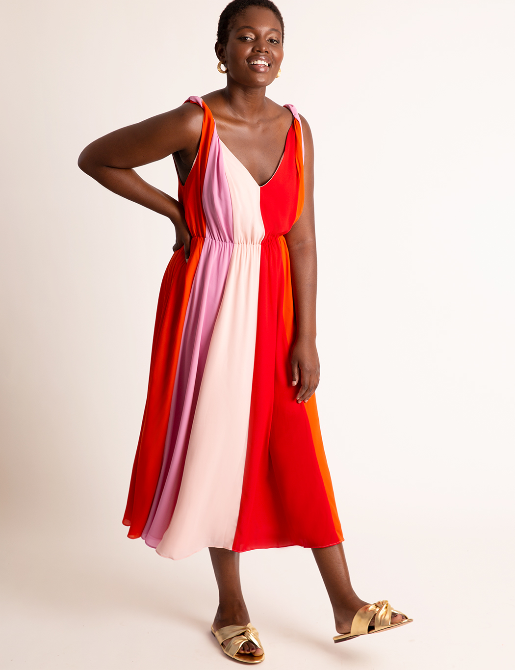 Colorblocked Midi Dress