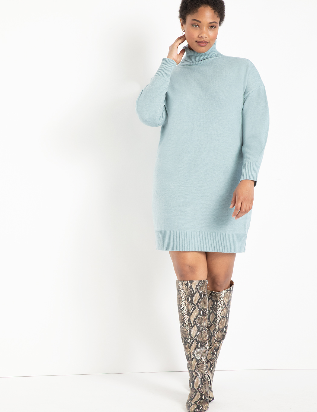 Mini Turtleneck Sweater Dress