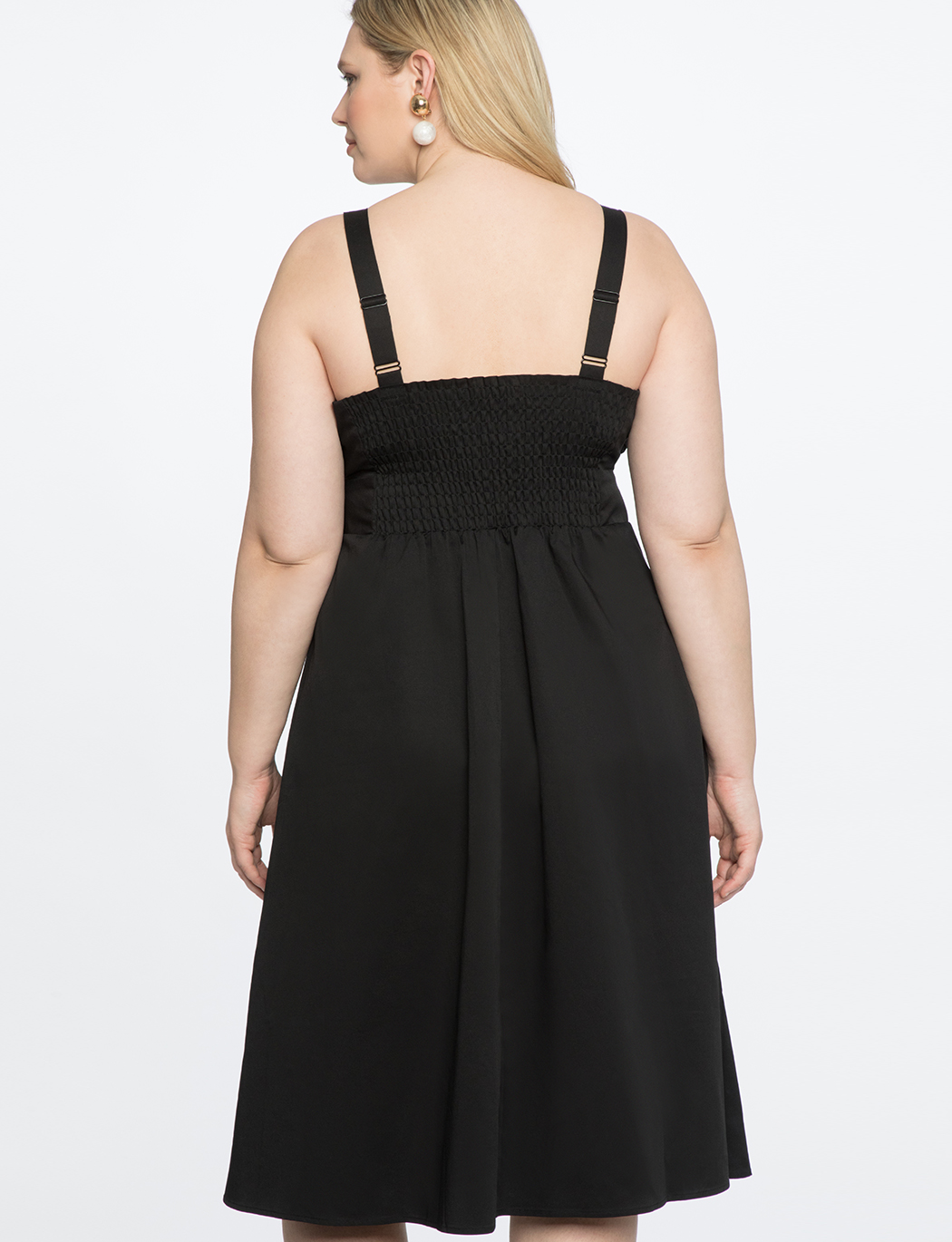 Button Front Bandeau Dress