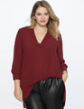 Easy V Neck Tunic Cordovan