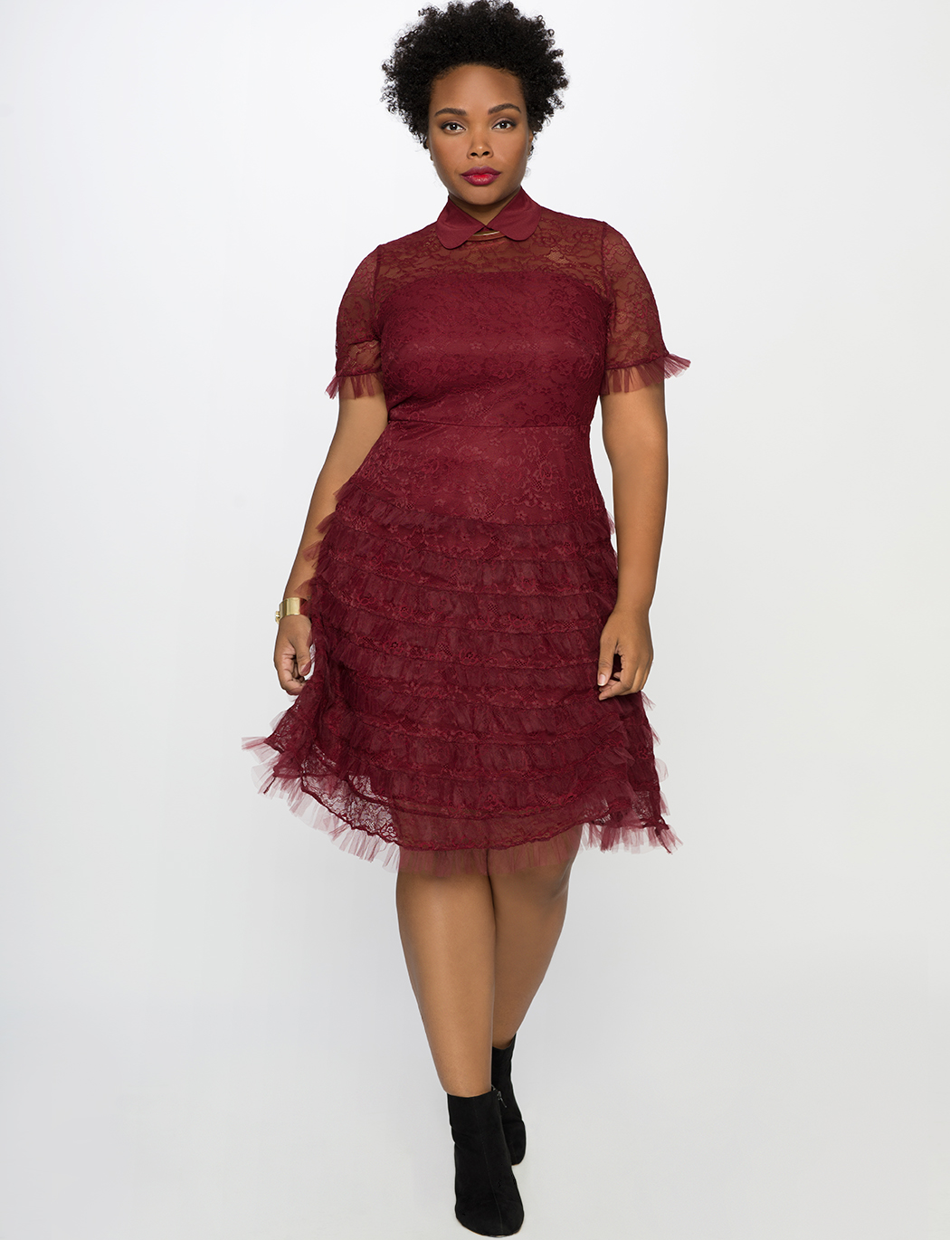 Studio Lace Ruffle Dress