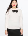 Sequin Bow Sweater PEARL