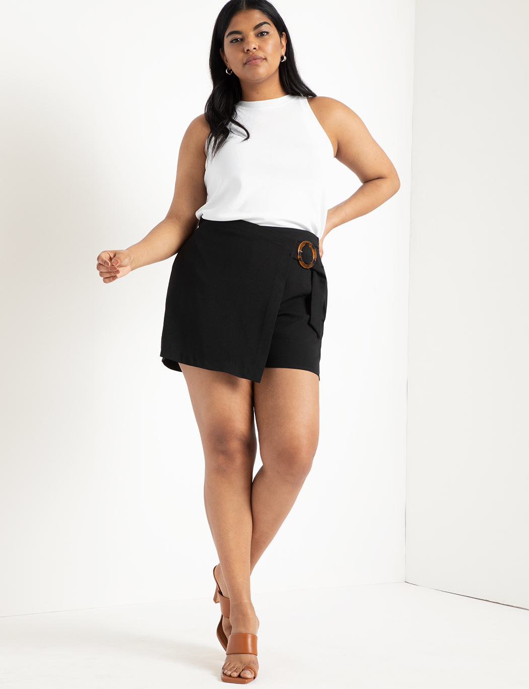 Wrap Front Skort with Buckle 1