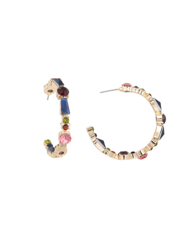 Multicolor Jeweled Earrings