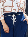 High Waisted Trouser with Rope Tie Sky Captain