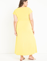 Easy Maxi Dress With Wrap Tie Skirt Yellow