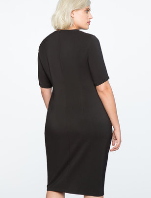 Twist Front Sheath Dress