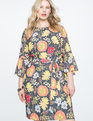 Printed Tie Waist Easy Tee Dress Once in a Lullaby