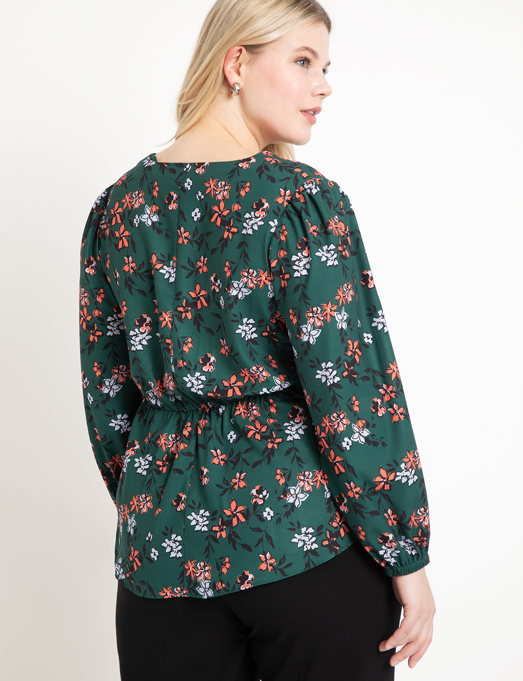 Twist Front Peplum Blouse