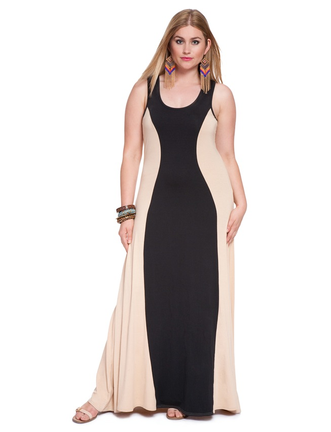 Colorblock Maxi Dress Womens Plus Size Dresses Eloquii