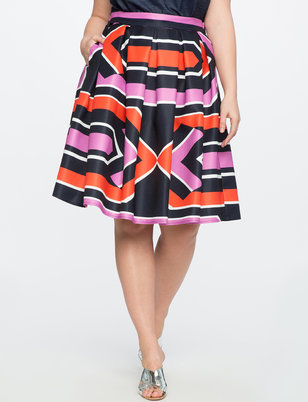 Studio Printed  Midi Skirt