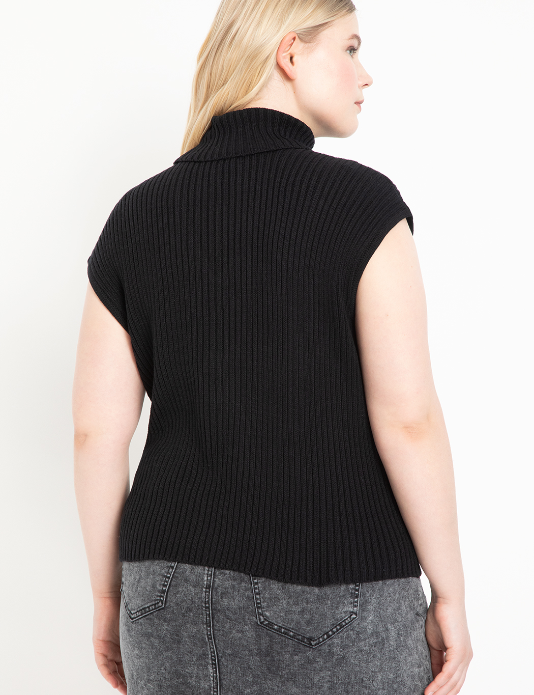 Turtleneck Cutout Sweater