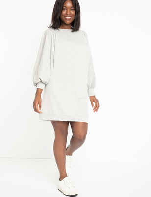 Dolman Sleeve Sweatshirt Dress